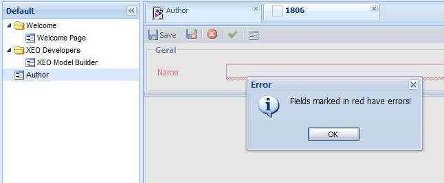 Required Field Error