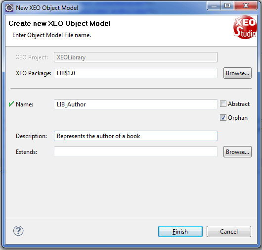 XEO Object Model Wizard