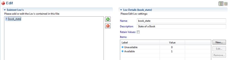 Lov Editor State Attribute